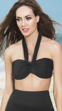 Multi-Purpose Wrap Bikini Top - Black