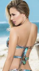 Multi-Purpose Wrap Bikini Top - Botanic