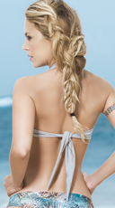 Multi-Purpose Wrap Bikini Top - Silver