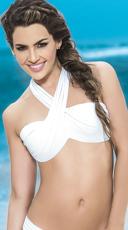 Multi-Purpose Wrap Bikini Top - White