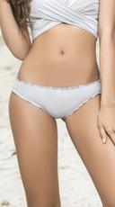 Ruffled Hipster Bikini Bottom - Silver