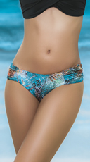 Ruched Hipster Bikini Bottoms - Botanic