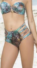 Strappy High-Waisted Bikini Bottom - Botanic