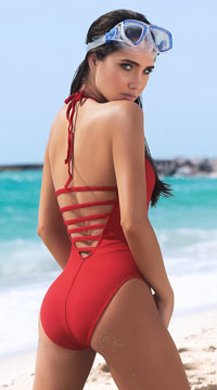 e04ea0bee85a3 ... Coral Cutie One Piece Swimsuit - Red