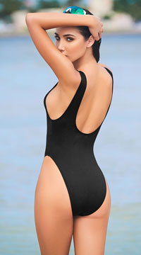 Babe Watch One Piece Swimsuit - Black