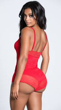 Arouse Me Romper -  - Red