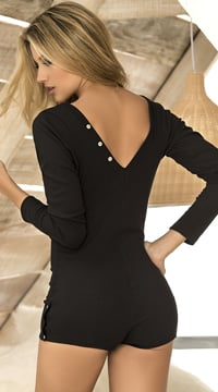 Nighttime Seductions Romper - Black