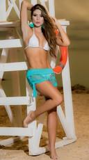 Lace Shorts - Turquoise