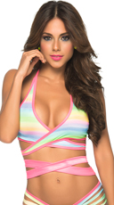 Colorful Wrap Around Top - as shown