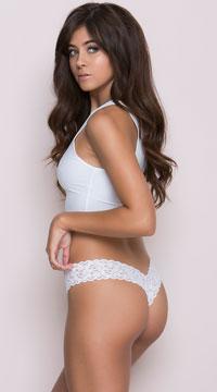 Sexy Lace Thong - White