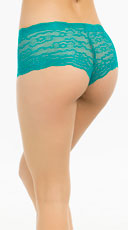 Bright Floral Lace Boyshort - Jade