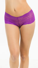 Bright Floral Lace Boyshort - Orchid