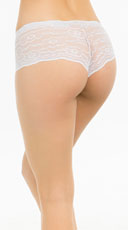 Bright Floral Lace Boyshort - White