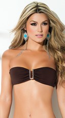Yandy Exclusive Patterned Bandeau Top - as shown