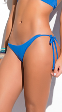 Yandy Scrunch String Bikini Bottom - Turquoise