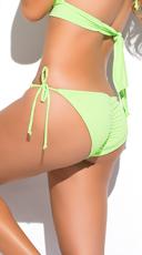 Yandy Scrunch String Bikini Bottom - Green