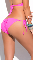 Yandy Scrunch String Bikini Bottom - Pink