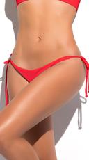 Yandy Scrunch String Bikini Bottom - Red