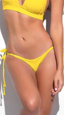 Yandy Scrunch String Bikini Bottom - Yellow