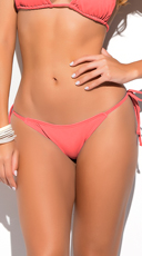 Yandy Thong String Bikini Bottom - Coral