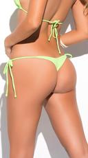 Yandy Thong String Bikini Bottom - Green