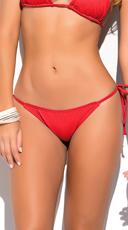 Yandy Thong String Bikini Bottom - Red