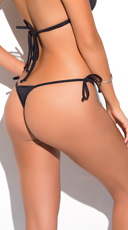 Yandy Micro Thong Bikini Bottom - Black
