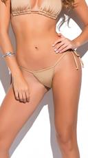 Yandy Micro Thong Bikini Bottom - Gold