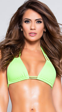 Yandy Double Strapped Bikini Top - Green