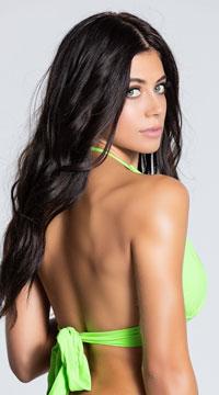 Yandy Solid Color Halter Bikini Top - as shown