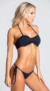 Yandy Thong String Bikini Bottom - Black