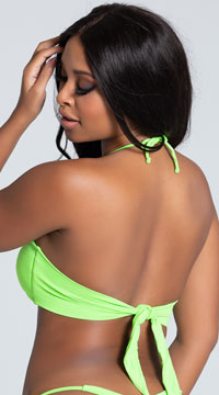 Yandy Twisted Bandeau Bikini Top - Green