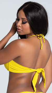 Yandy Twisted Bandeau Bikini Top - Yellow