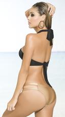 Yandy Black and Gold Convertible Bikini - as shown
