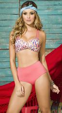 Yandy High Waisted Olive Bikini - as shown