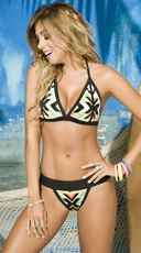 Yandy Colorful Arrow Printed Bikini - as shown