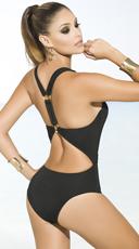 Yandy Beach Babe Belted Monokini - Black