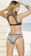 Yandy Geometric Fishnet Bikini - as shown