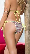 Ruffled Static String Bikini Bottom