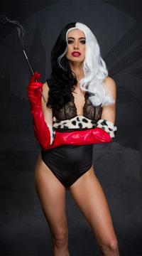 Yandy Devilish Dognapper Fantasy Lingerie Costume - Black