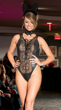 Playboy Bunny Plunging Lingerie Set - as shown