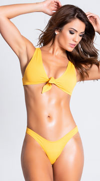 Yandy High Basic Bikini Bottom - Yellow