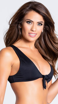 Yandy Twisted Basic Bikini Top - Black