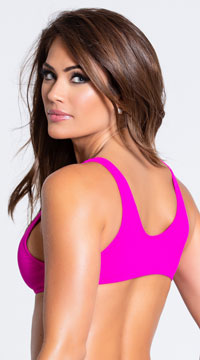 Yandy Twisted Basic Bikini Top - Pink