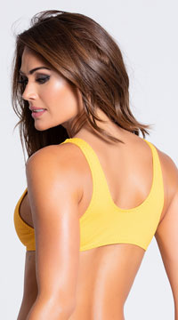 Yandy Twisted Basic Bikini Top - Yellow