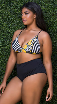 Plus Size Yandy High Waisted Bikini Bottom - Black
