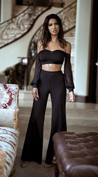 Yandy Posh Pants Set - Black