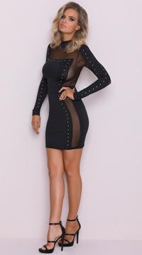 yandy opulent mini dress sheer black dress  yandy
