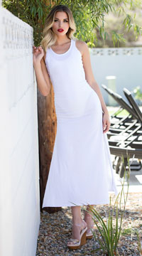 Yandy Interlaced Cover-Up Dress - White
