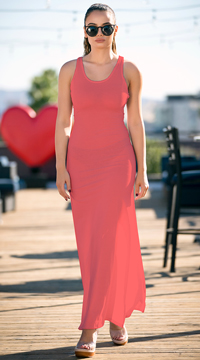 Yandy Interlaced Cover-Up Dress - Coral